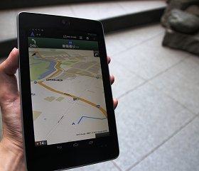 簡易ナビ機能も搭載しているGoogleマップ(イメージ)
