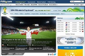 FIFAの公式ウェブサイトで、イランの勝利が大きく掲載された
