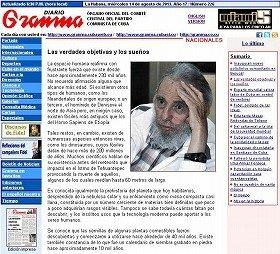 フィデル・カストロ氏がキューバ共産党機関紙「グランマ」に寄稿したコラム。故・金日成主席を称賛している