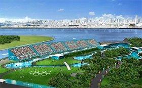 競技場の完成予想図。立ち席を含めると1万5000人を収容できる(招致委員会ウェブサイトから)