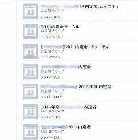 Facebookの内定者グループ