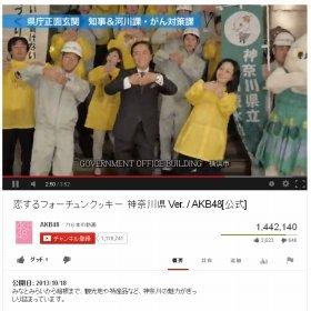 キレのいいダンスを披露する神奈川県の黒岩知事(YouTubeより)