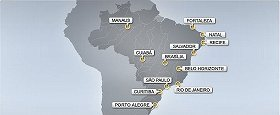ブラジル12都市で開催される(FIFAウェブサイトより)