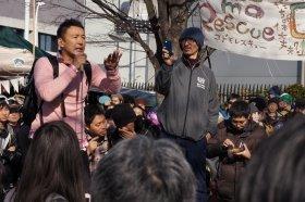12月7日、特定秘密保護法に対し、今後も「廃止」を目指して戦っていくと語った山本太郎参院議員