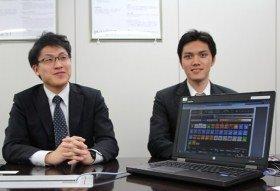 インヴァスト証券 マーケティング部の鈴木裕太さん(左)と日田聖大さん(右)