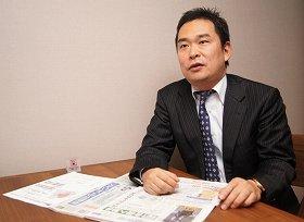 常陽新聞の「復刊」に取り組む楜澤悟氏。地域情報への需要は、時代が移っても変わらないと分析し、地方紙の世界に飛び込む