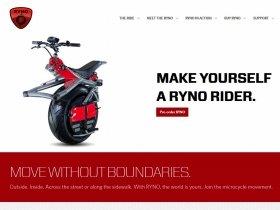 「SF映画の世界!」と話題の電動一輪車「RYNO」(画像は「Ryno Motors」のホームページ)