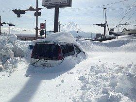 雪で埋まった車
