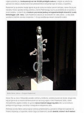 ジョブズ氏の記念碑だとしてクロアチアのニュースサイト「ネットクラシア」(Netokracija)に掲載された写真。米国ではかなり不評のようだ