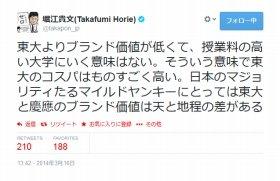 物議を醸す堀江さんのツイート