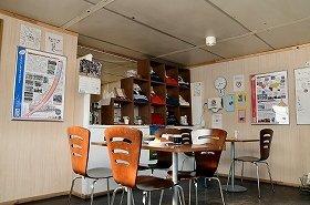 ラグビーカフェの中には、名門チームのジャージが展示されていた