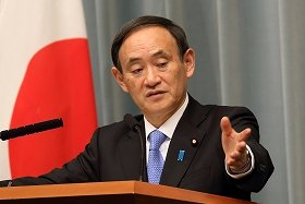 菅官房長官は中国政府の関与については「裁判中の懸案ですから…」とかわした(2014年3月撮影)