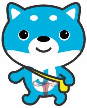 「子宮コラ」の例(キャラクターはJ-CASTニュースオリジナルの「カス丸」)