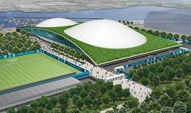 建設中止が取りざたされている「夢の島ユース・プラザ」 (c)TOKYO2020