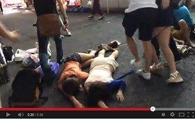 YouTubeに投稿された騒動を伝える動画(画像は動画のスクリーンショット)
