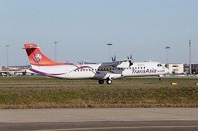 トランスアジア航空のATR72(ATR社ウェブサイトから)。写真はATR72-600型機で、前身のATR72-500型機が墜落した