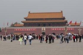 冬になると北京の空気は「真っ白」に(写真は2014年5月撮影)