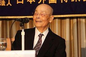 日本外国特派員協会で講演する「すきやばし次郎」の小野二郎さん