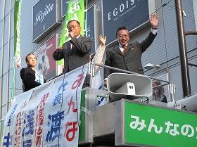 みんなの党は2009年の結党から5年で解党する見通しになった(2010年撮影、写真右が渡辺喜美前代表)