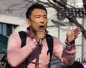 山本氏の共同代表就任も世間の目は冷たい...(13年12月撮影)
