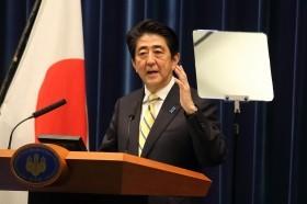 安倍首相の談話が波紋を広げている(2014年11月撮影)
