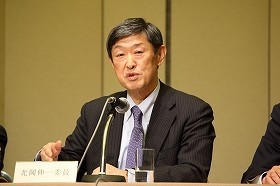 北岡伸一・国際大学学長の発言が反響を呼びそうだ(2014年12月撮影)