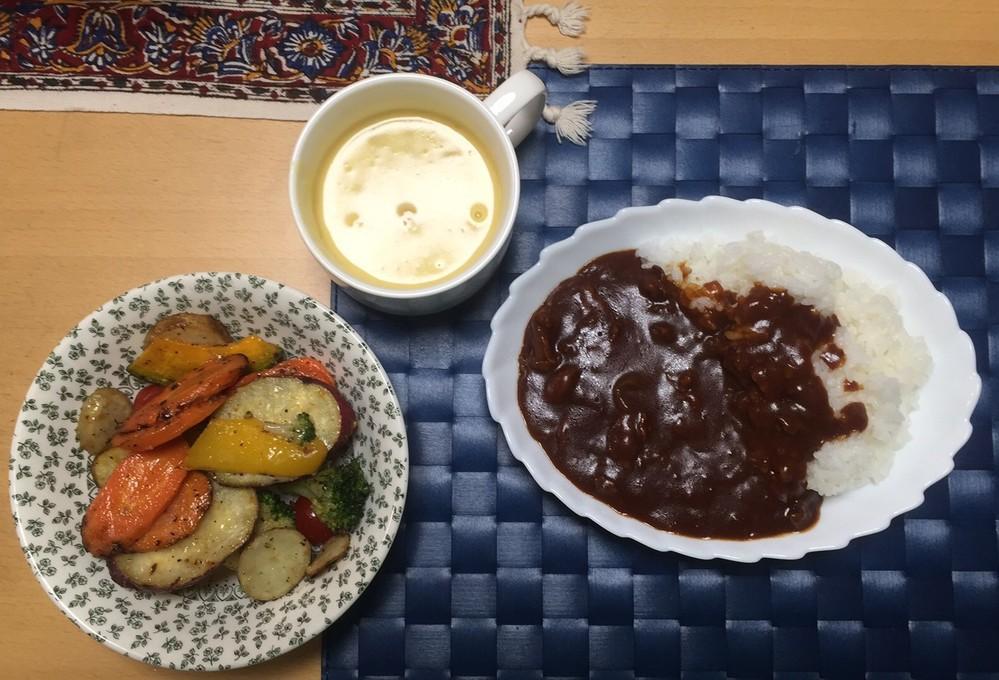 夜の食卓、妻からは「野菜をもっと食べて」