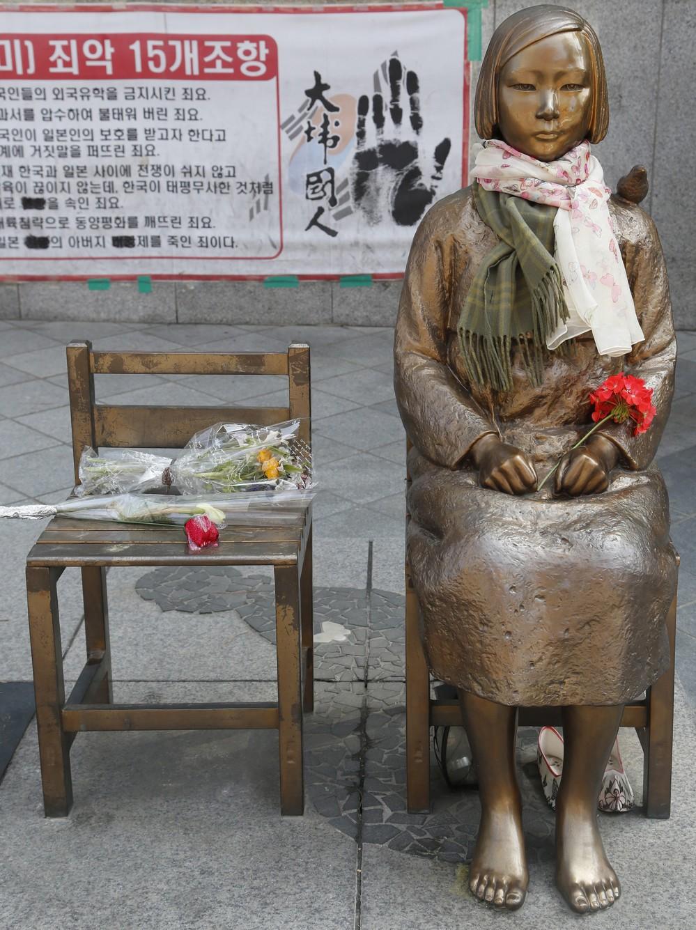 日韓関係、次の焦点は「慰安婦像の撤去」 韓国側は「民間がやった」と応じず