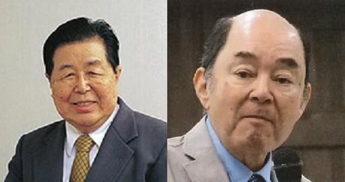 日本で初めての体外受精児の誕生を成功させた鈴木雅洲氏(写真左 スズキ記念病院提供)、鈴木氏と同じチームにいた今泉英明氏(写真右)