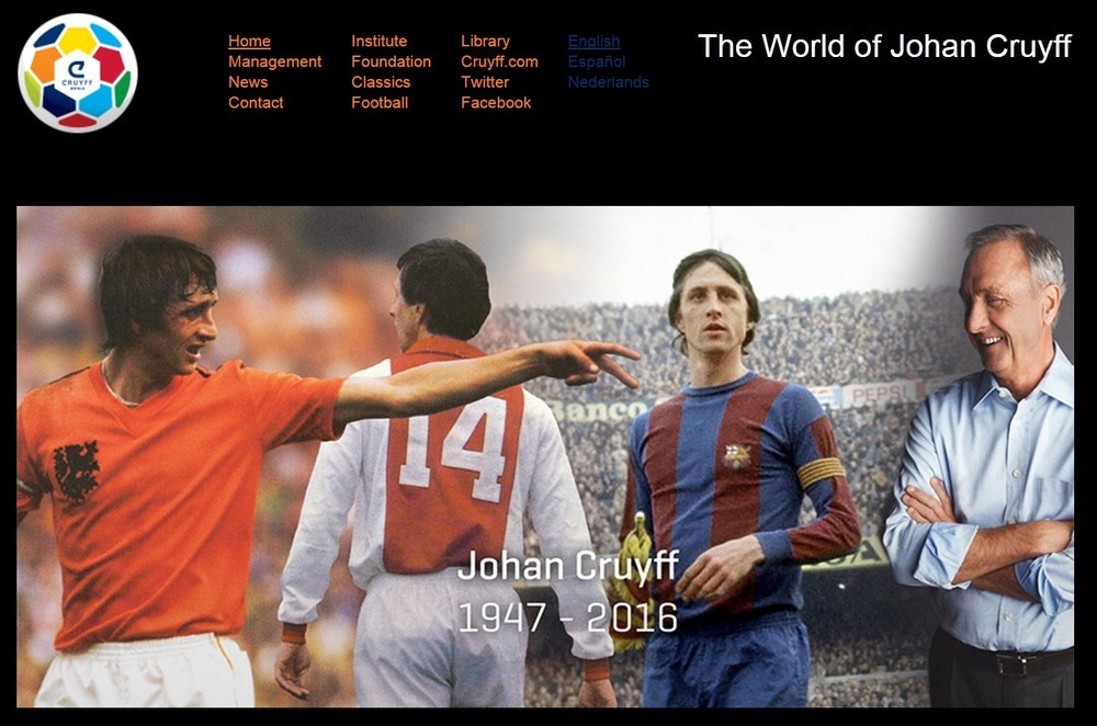 オランダの伝説の選手ヨハン・クライフ氏死去 「あなたがいなかったら...」悼む声続々