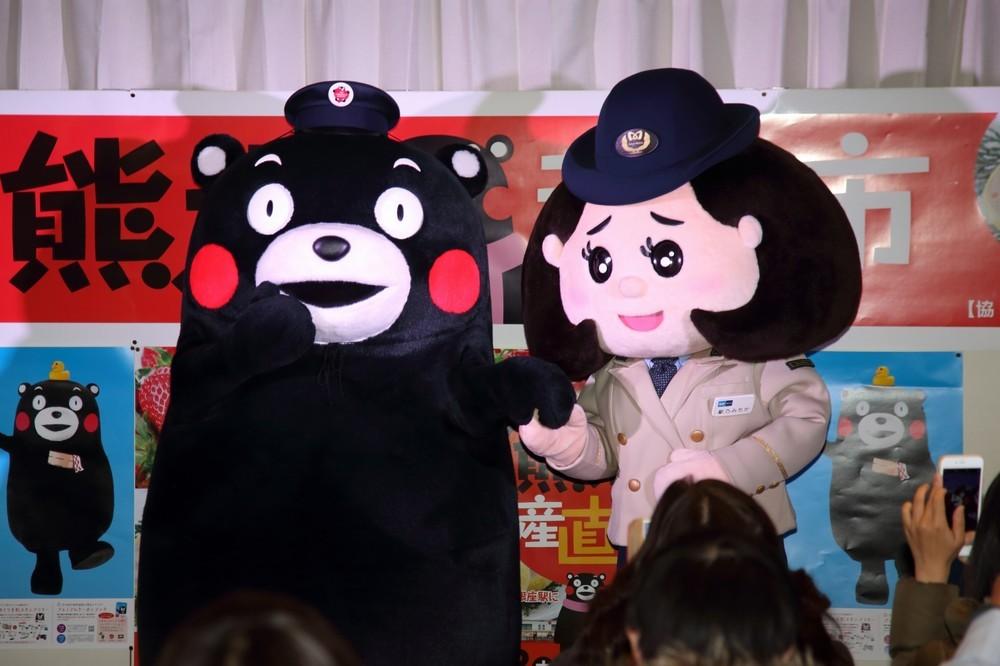 くまモン、駅乃みちかと初共演 熊本と東京の「意外なご縁」とは
