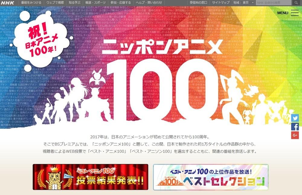 NHK「ベスト・アニメ100」、ランキング大荒れの理由とは