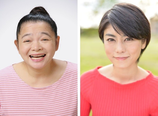「再現ドラマの女王」こと、上村依子さん(左)と、芳野友美さん