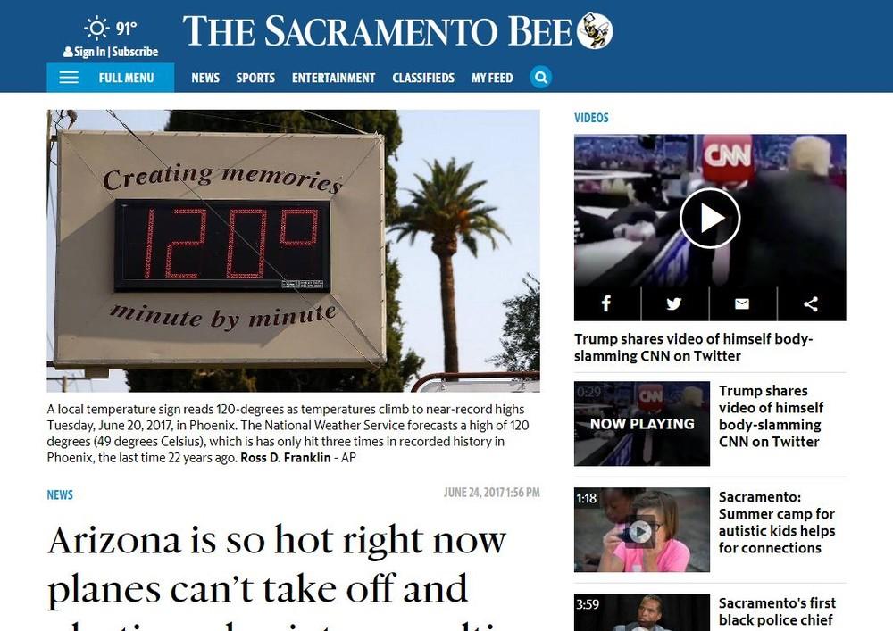 日本は酷暑を迎えたが... 米アリゾナ州では連日49度を記録