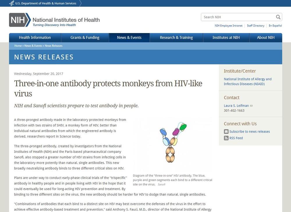 エイズ、ついに撲滅か 画期的な抗体の開発に成功