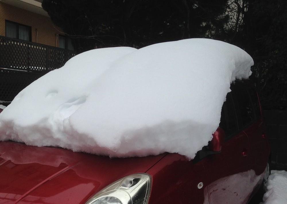車の屋根の雪、落とさず走ると「非常に危険」 人気声優も指摘「命がかかっております」