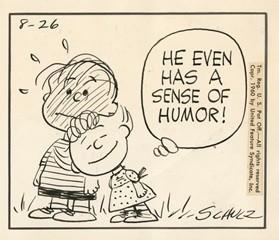 「ピーナッツ」原画(部分)1960年8月26日