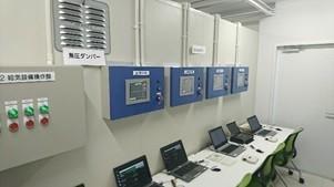 被験者のモニタリングを行う制御室