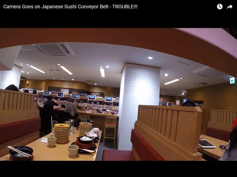 米YouTuber、今度はスシローで迷惑動画 回転寿司レールにカメラ置き無断撮影...