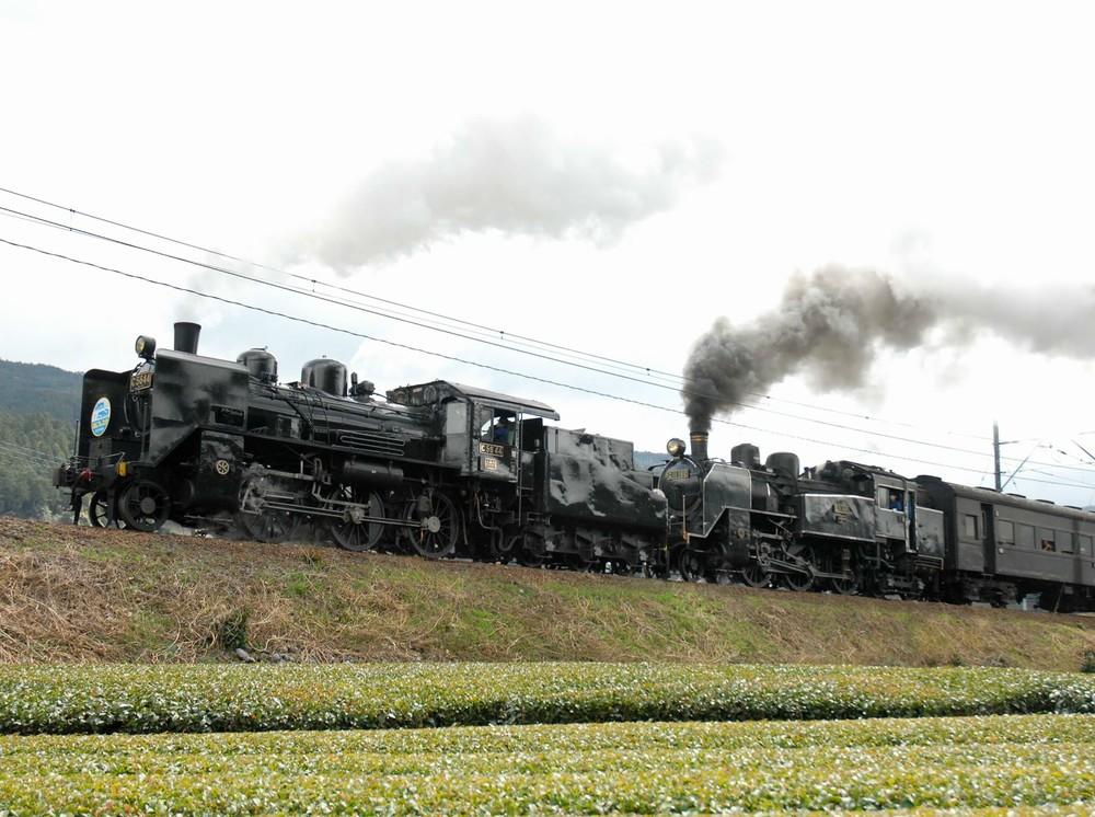 J-CASTニュースに写真を提供した男性は、農道から蒸気機関車を撮影していた(提供写真)