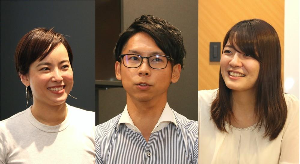 (左から)武内さん、稲田さん、佐々木さん