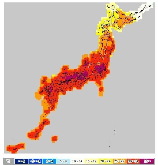 暑い!岐阜で今年初の39度超え  45都府県で高温注意報