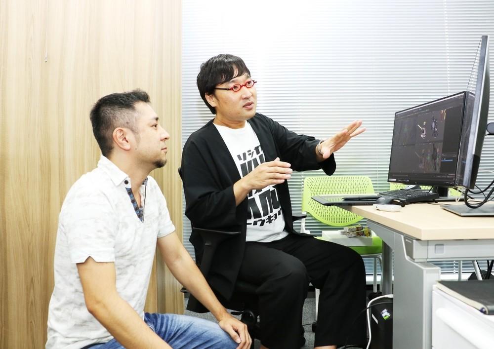 ディライトワークス 開発本部 デザイン部部長、辻畑孝信さん(左)