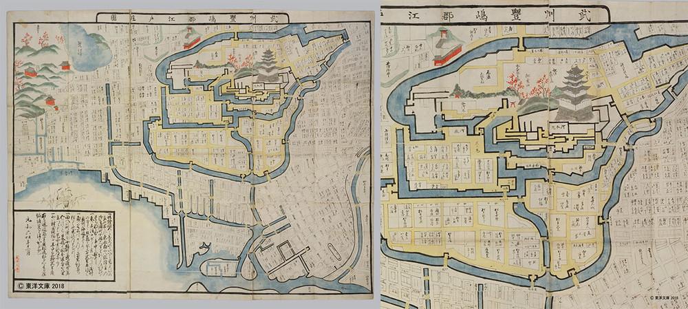 古地図に描かれた江戸城天守閣(見る読む解く 古地図の世界)