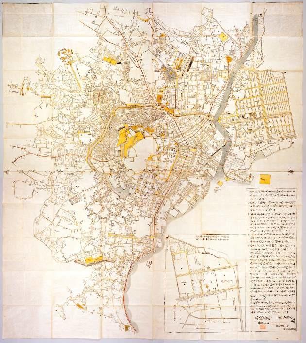 発展する大江戸、地図も実測で正確に(見る読む解く 古地図の世界)