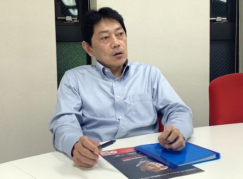 雑誌「月刊バスケットボール」編集長の飯田康二氏。学生時代からバスケットに夢中。コーチの経験もあり!
