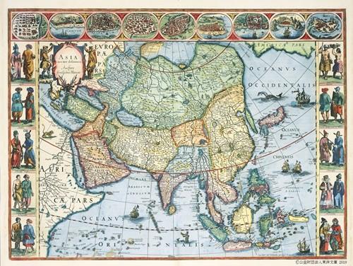 『アジア図』 ウィレム・ブラウ 1635年 アムステルダム