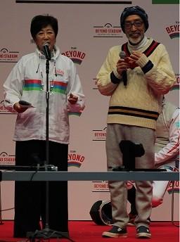 2019年2月24日の「パライベント」に登場した小池都知事(左)とテリー伊藤氏