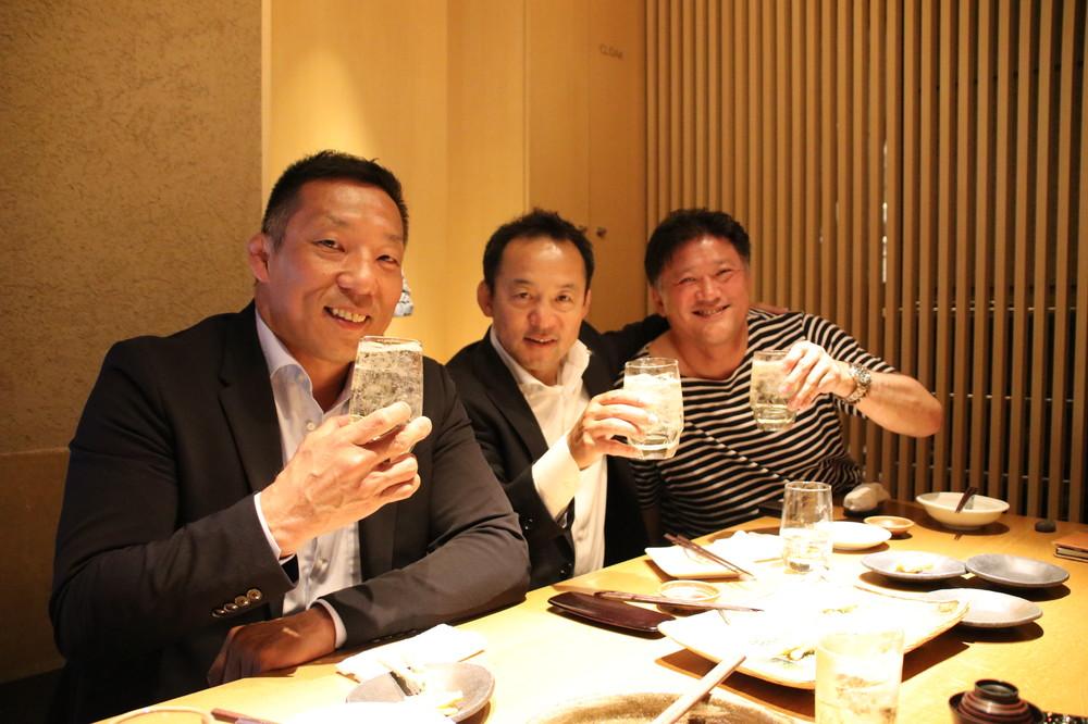 元ラグビー日本代表の3氏。左から坂田正彰さん、永友洋司さん、今泉清さん