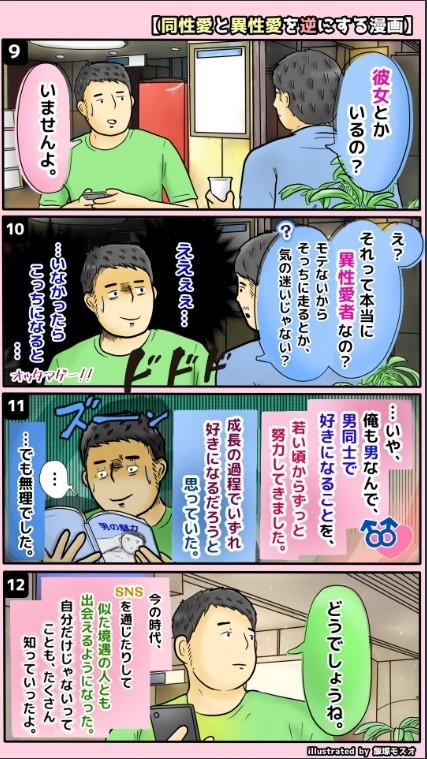 漫画の3ページ目(飯塚モスオさんのツイートより)
